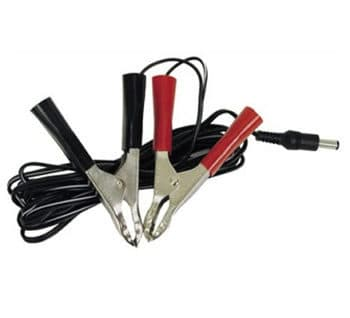 battery cable with clips