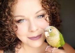 Annie Gavin and bird