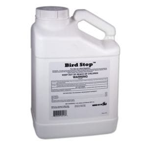bird stop liquid bird deterrent gallon container