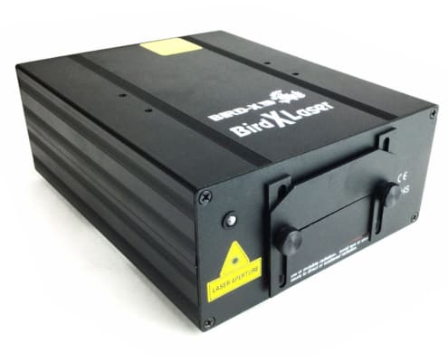 side view of indoor laser