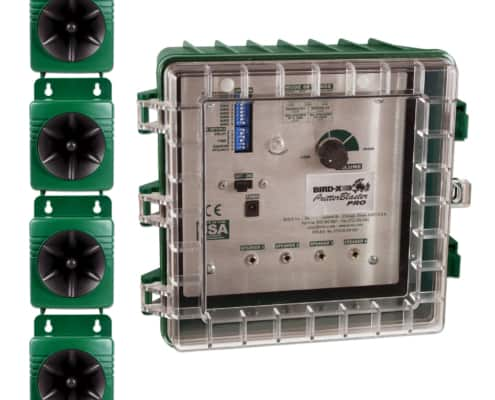 critter blaster pro control box with four speakers