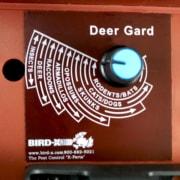 up close back of deer gard, dial