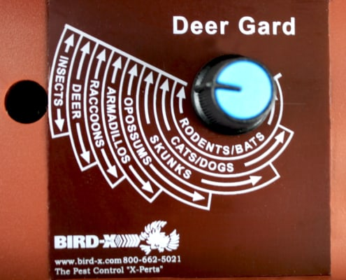 up close back of deer gard, dial