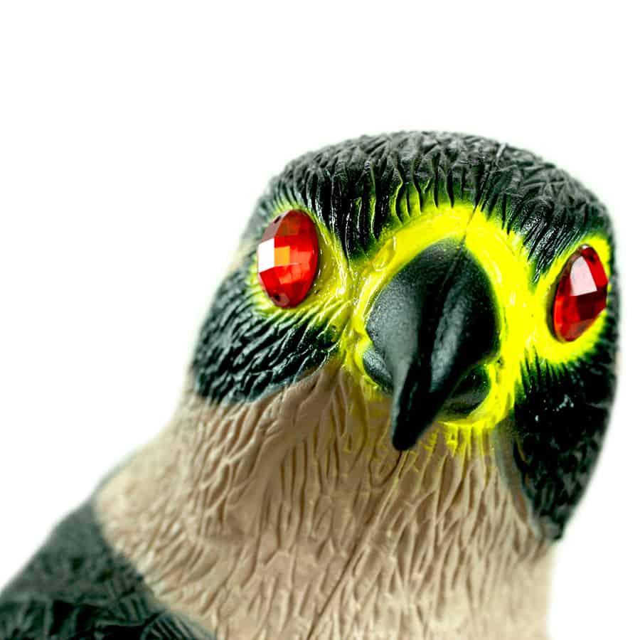falcon predator decoy up close