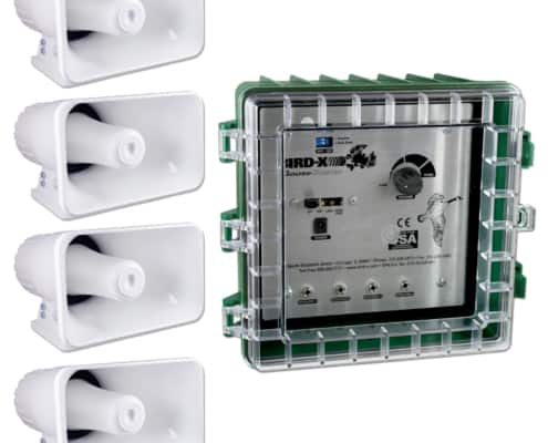 goosebuster control box with four speakers