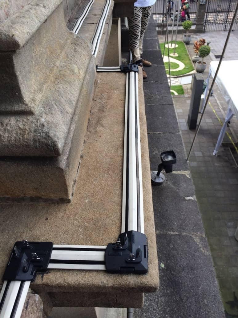 avishock installation on building ledge