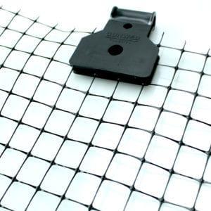 closeup of netting clip