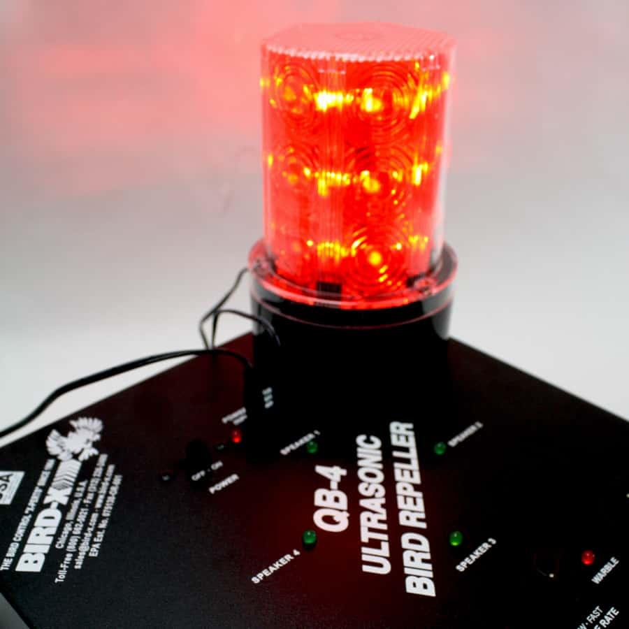 close up of light attachment on super quadblaster