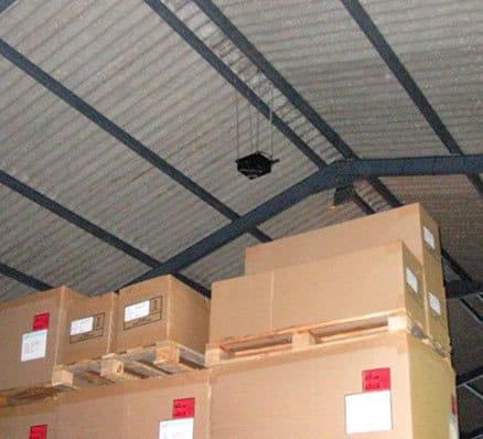 quadblaster qb-4 application pic, on ceiling