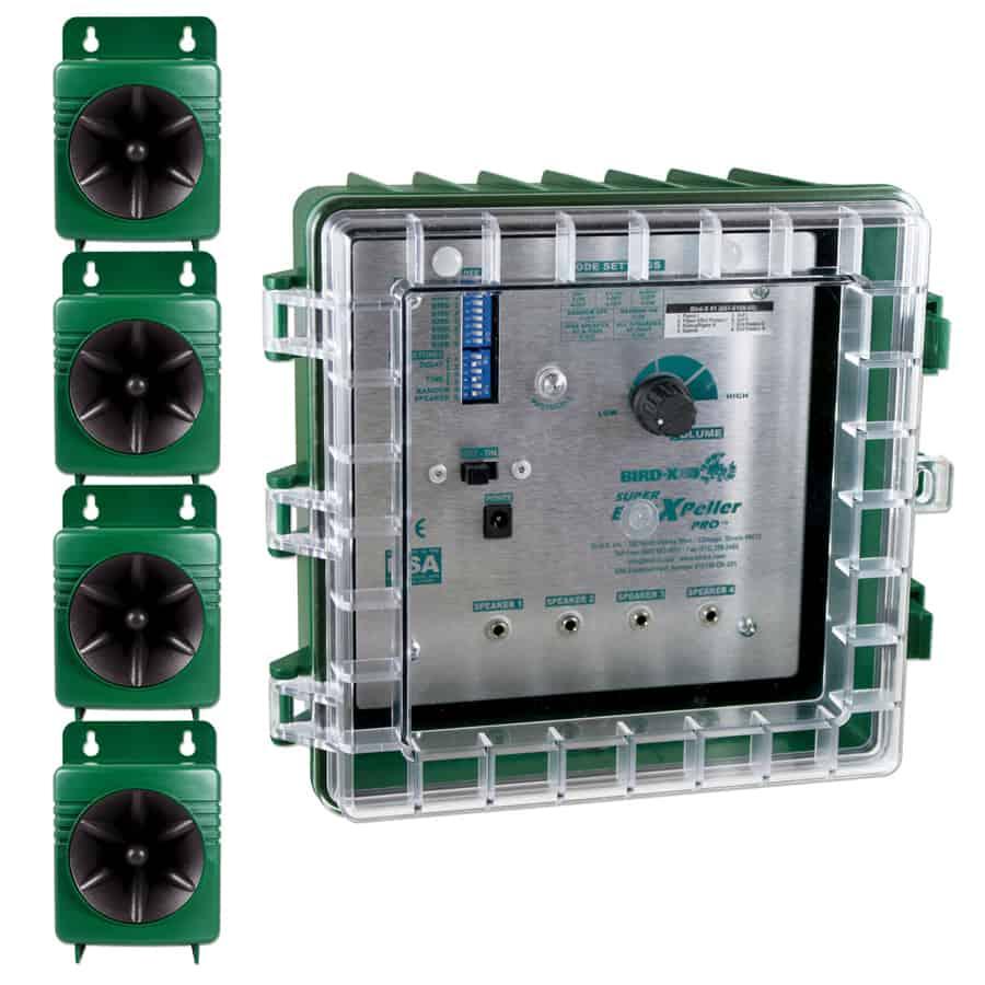 super birdxpeller pro control box with four speakers