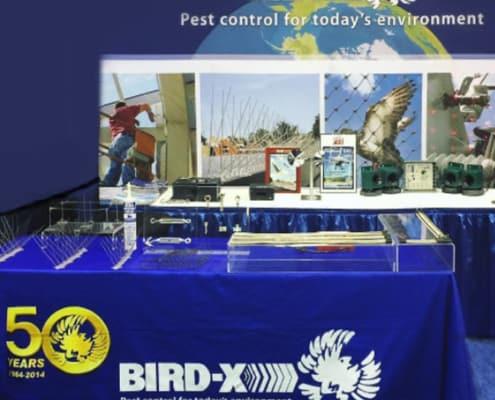bird-x trade show setup