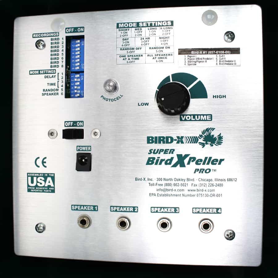 super birdxpeller pro closeup of control box