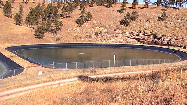 wastewater pond